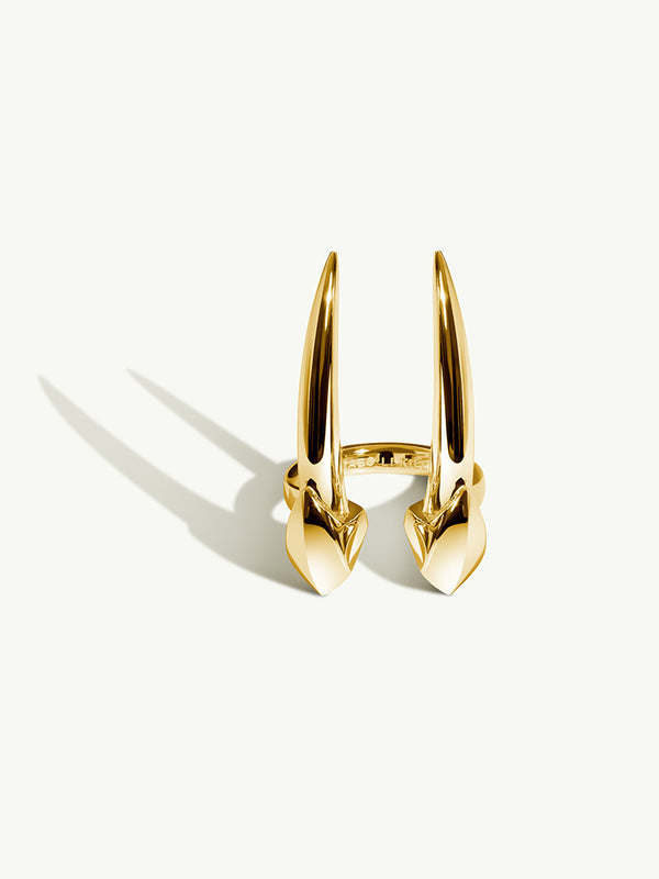 Damian Brevis Horn Ring In Yellow Gold