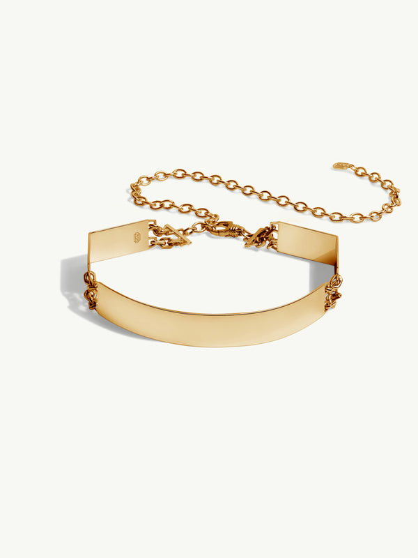 Roman Choker In 18K Yellow Gold