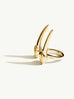 Damian Brevis Horn Ring In 18K Gold