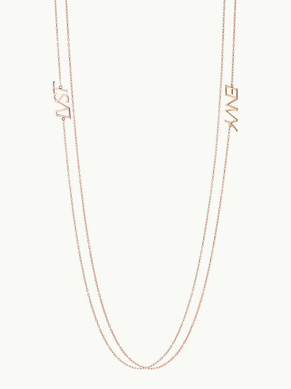 LUST Pendant Necklace in 18K Rose Gold