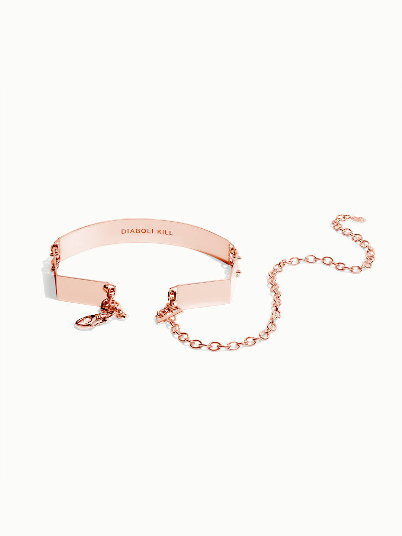 Roman Choker In Rose Gold Vermeil