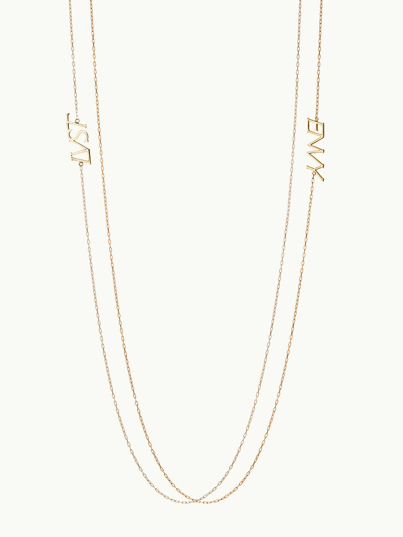 LVST AND ENVY 14K GOLD NECKLACES DETAIL