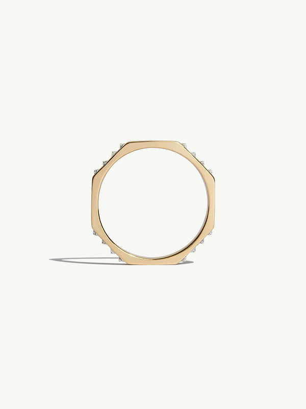 Octavian White Diamond Ring In 18K Yellow Gold - 4.5mm