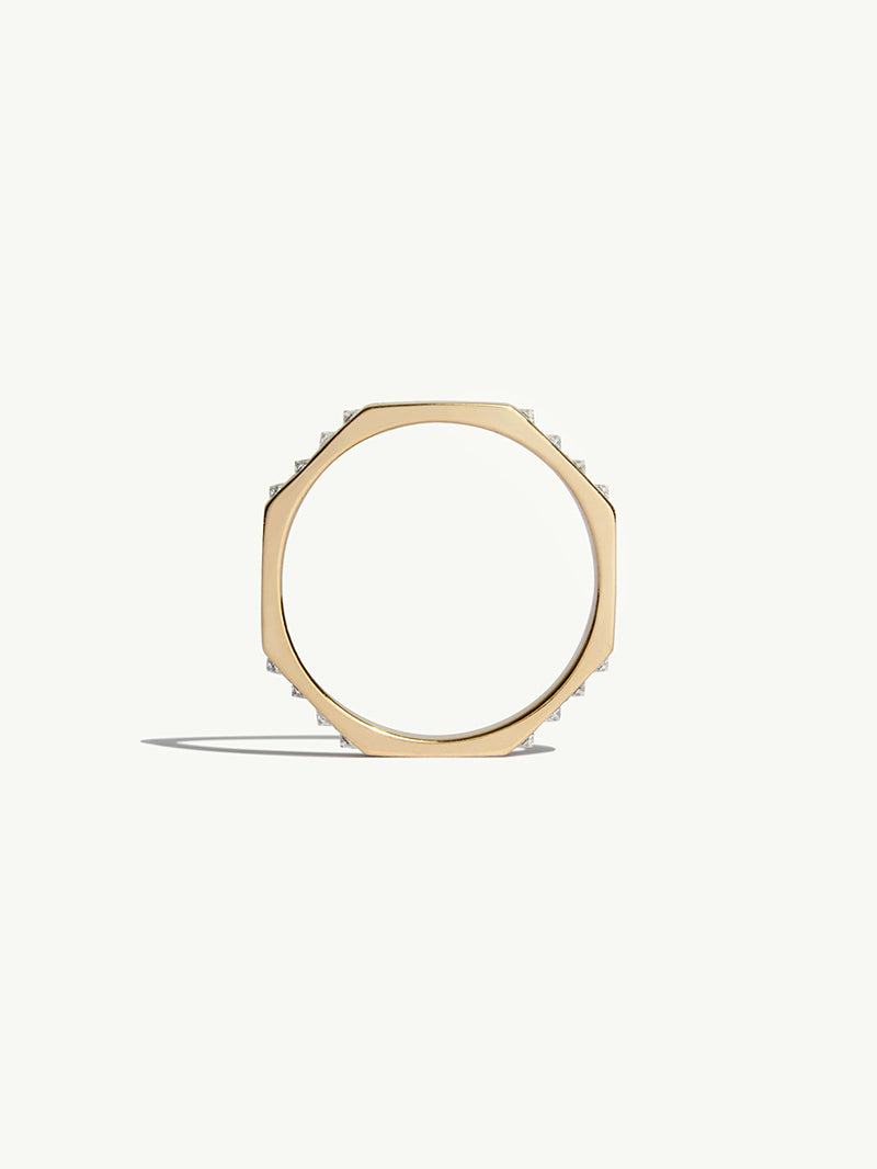 4.5mm Octavian Diamond Ring In Yellow Gold