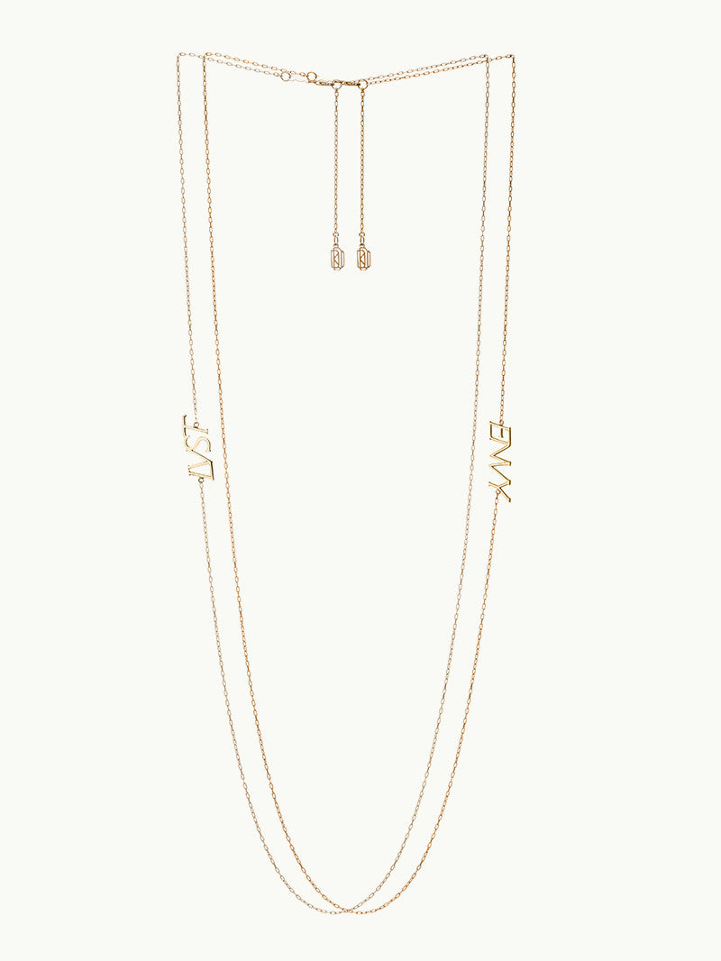 LVST AND ENVY 14K GOLD NECKLACES