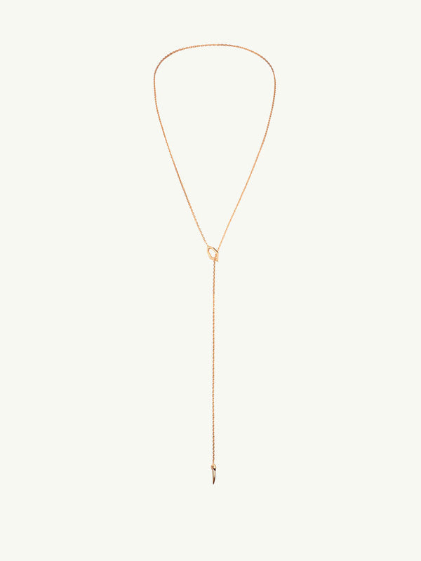 Amanti 18K Rose Gold Lariat Choker Necklace - Image 2