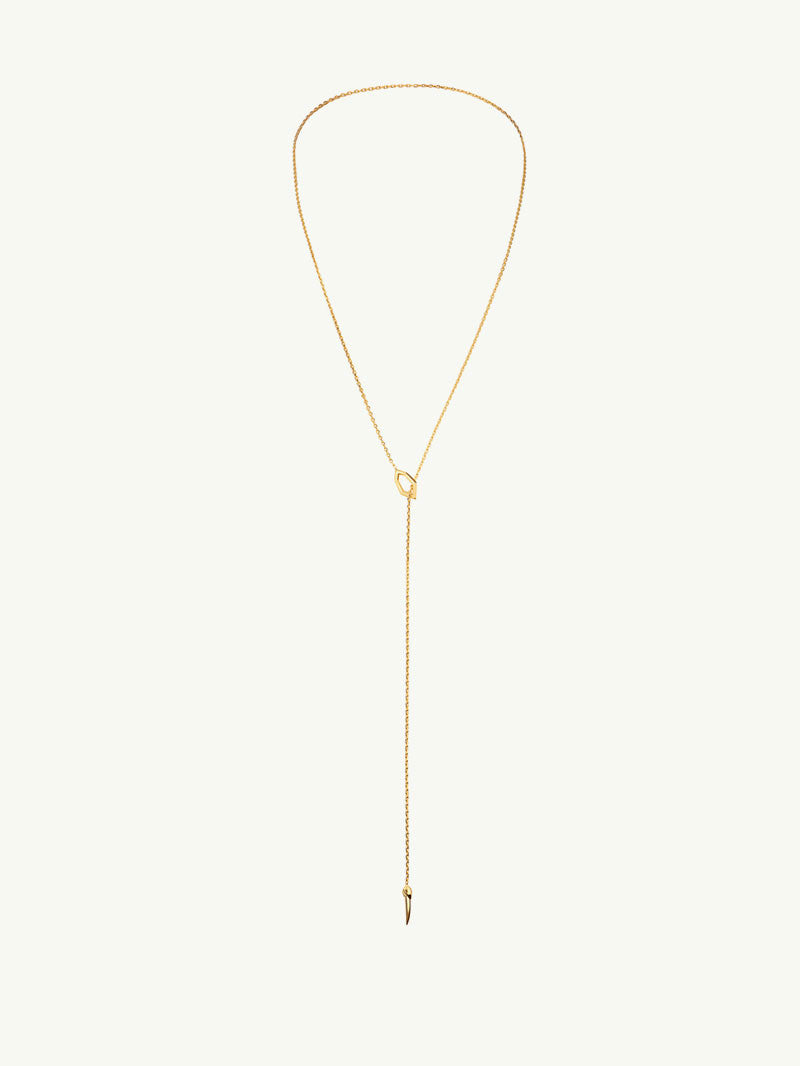 Amanti 18K Gold Lariat Choker Necklace 3