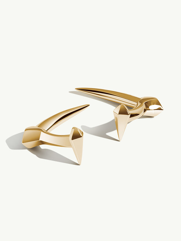 Damian Horn Cufflinks In 18K Yellow Gold
