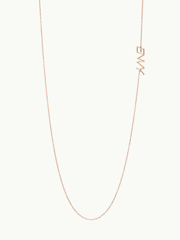 Envy Pendant Necklace in Rose Gold