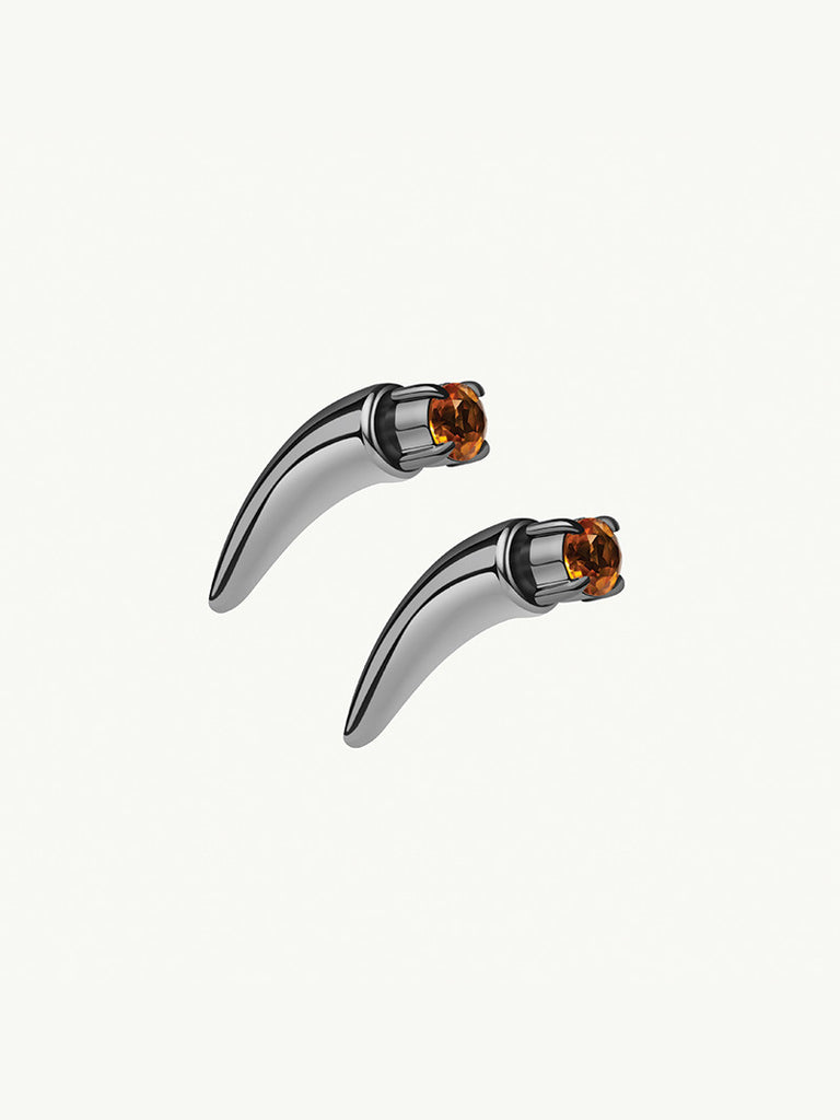 Damian 18K Black Gold Citrine Horn Earring