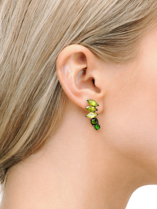 Isadora Ear Climber Earrings On Model