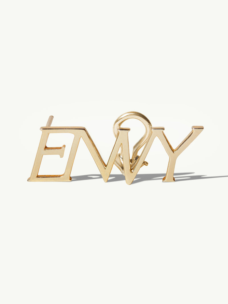 14K YELLOW GOLD ENVY EARRING