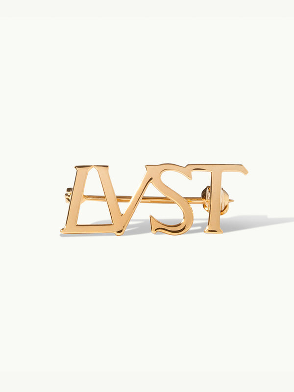 LUST Brooch Pin in 18K Yellow Gold