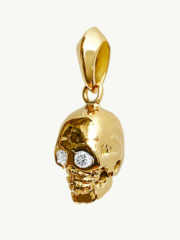 Ready To Ship - Memento Mori Diamond Skull Amulet Pendant