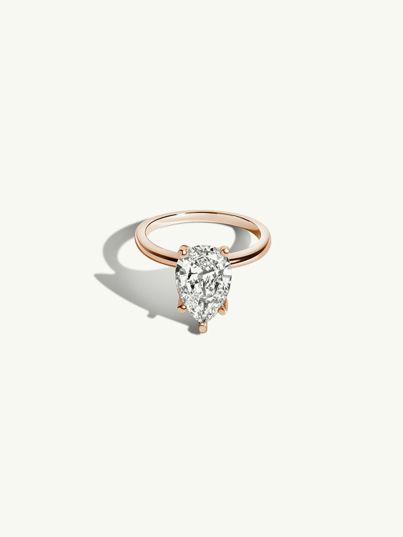 Pear Shape Diamond Solitaire Engagement Ring (1.61 CTW)