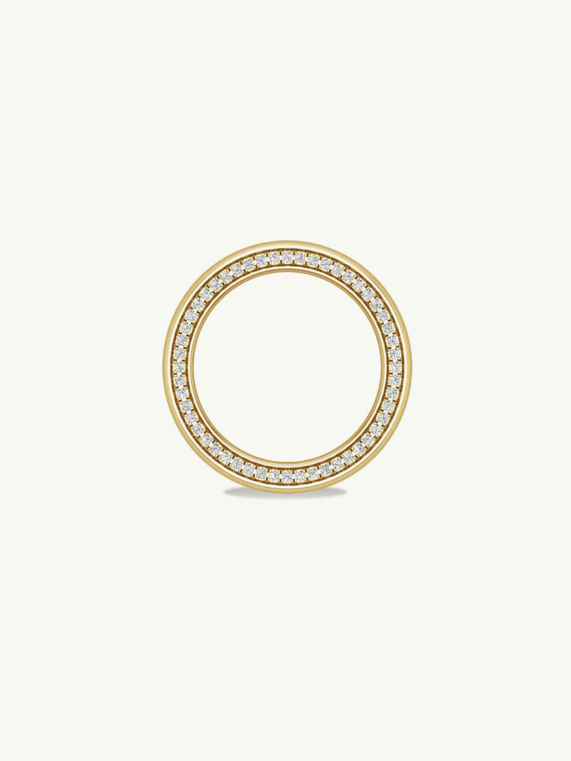 Ignis Extra-Wide Diamond Edge Accented Band in Yellow Gold - 8MM