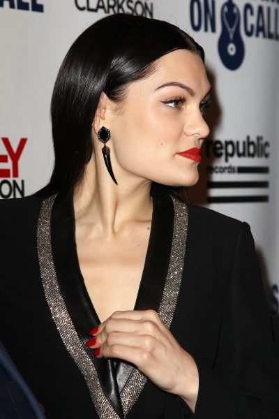 Jessie J wearing Diaboli Kill Black Alexandria Earrings