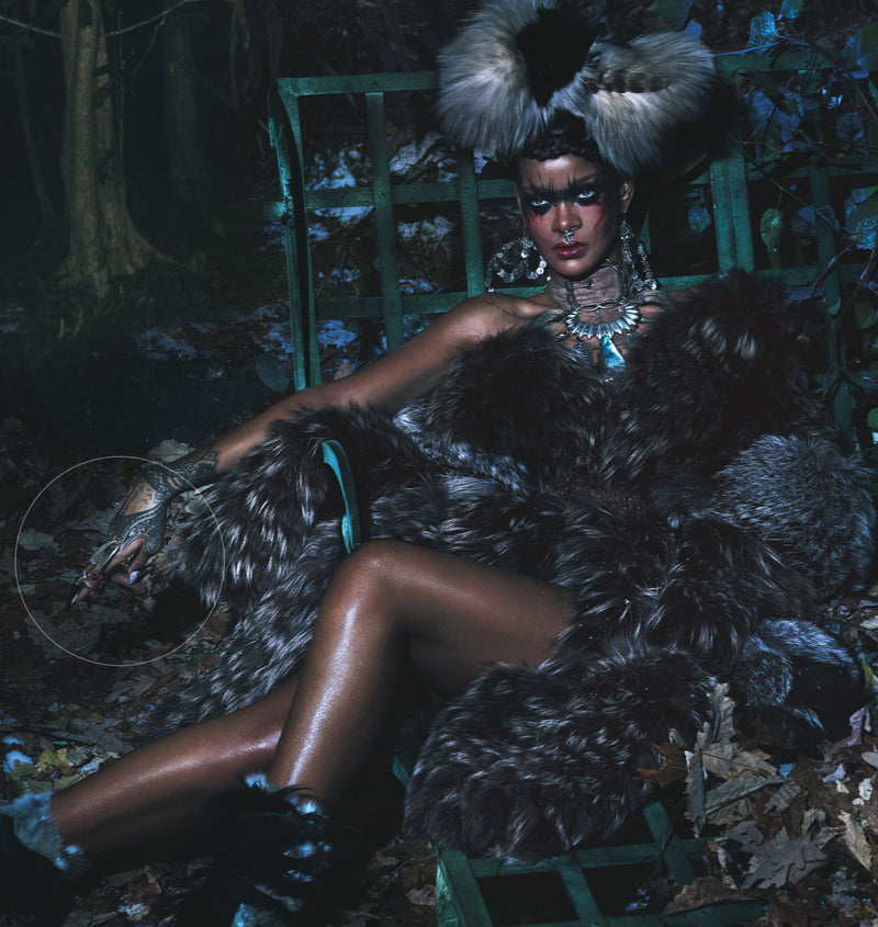 Rihanna wearing Damian rings in W magazine