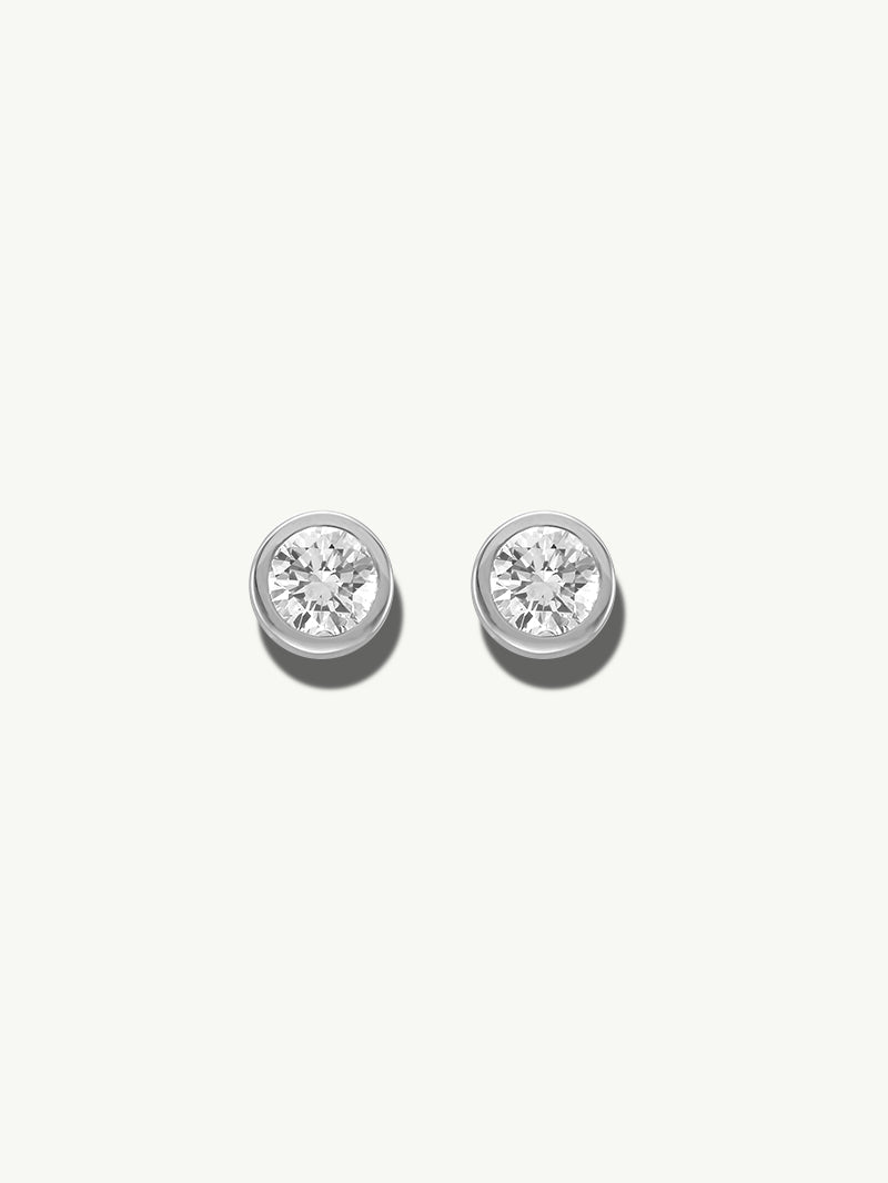 Adamas White Diamond Earrings in White Gold