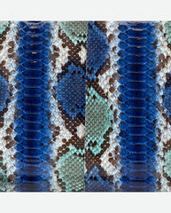 CHLOE PANEL<br />(for Margot Day Bag)<br />Cobalt Blue/Turquoise/Green Glazed Python