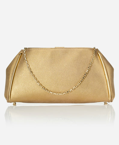 TAYLOR CLUTCH<br /> Sueded Gold