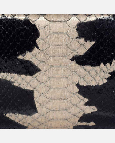 JACKIE PANEL <br />(for Taylor Clutch)<br /> Black/Ivory Gold Starburst Glazed Python