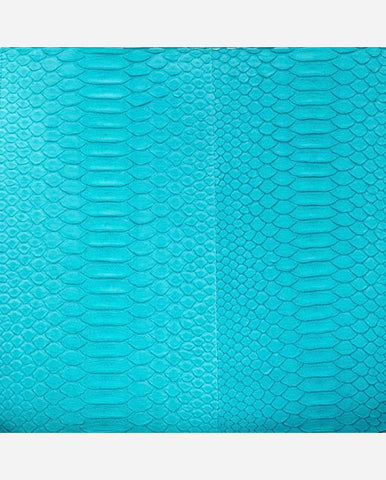 MARINA PANEL <br />(for Taylor Clutch)<br /> Turquoise Matte Python