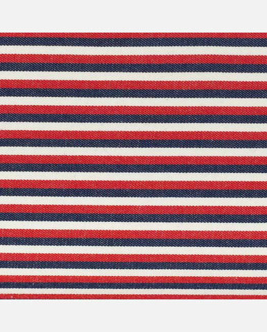 SAMANTHA PANEL <br />(for Taylor Clutch)<br /> Red/White/Blue Cloth Stripe
