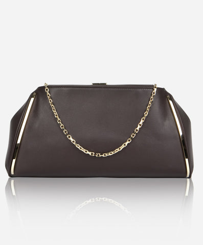 TAYLOR CLUTCH<br /> Chocolate