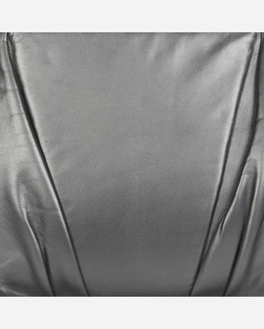 ELLEN PANEL<br />(for Taylor Clutch)<br /> Corner Pleated Anthracite Italian Leather