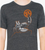 Classic Rust T-shirt—Heather Black