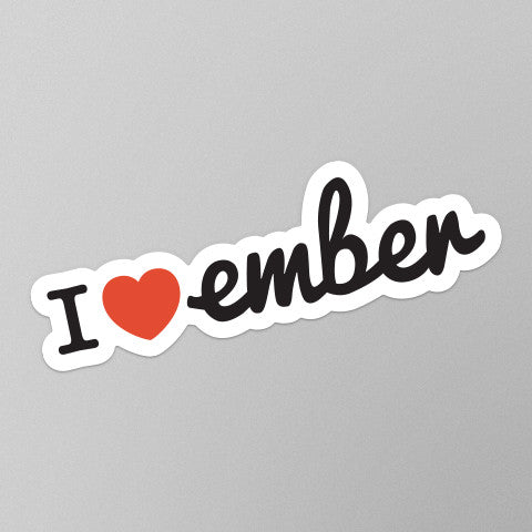 I Heart Ember Stickers