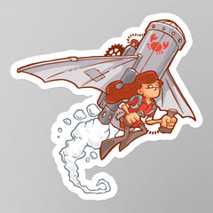 Rust Lucy Stickers