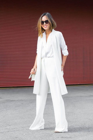 white on white - shirts & suits
