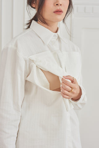 The Iconic white shirt made to be nursing friendly