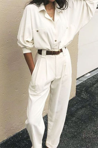 white shirt with white pants
