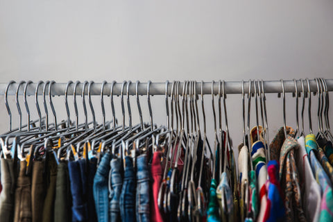 clothes selection on rack