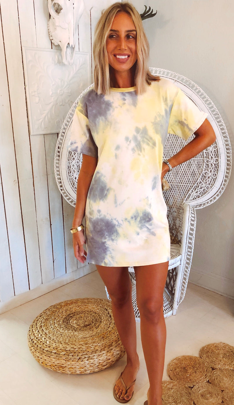 The Lemon Zest Tie Dye Dress