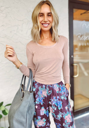 The Rosie Mauve Backless Top