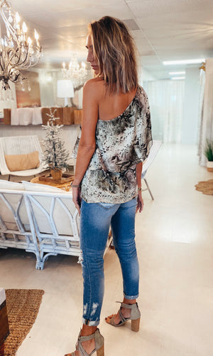 The Brunchin' One Shoulder Top