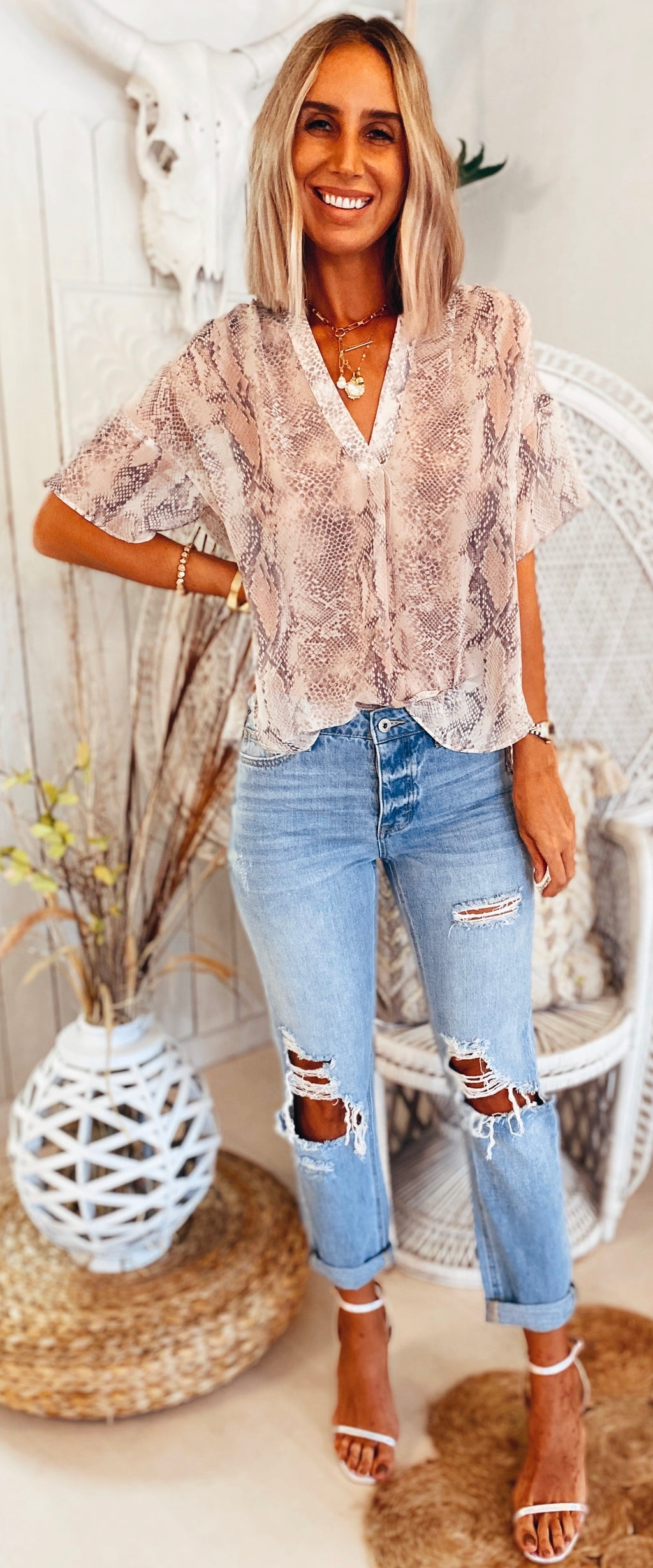 The Blushing Desert Top