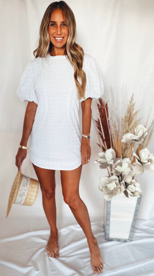 The Daisy Eyelet Dress