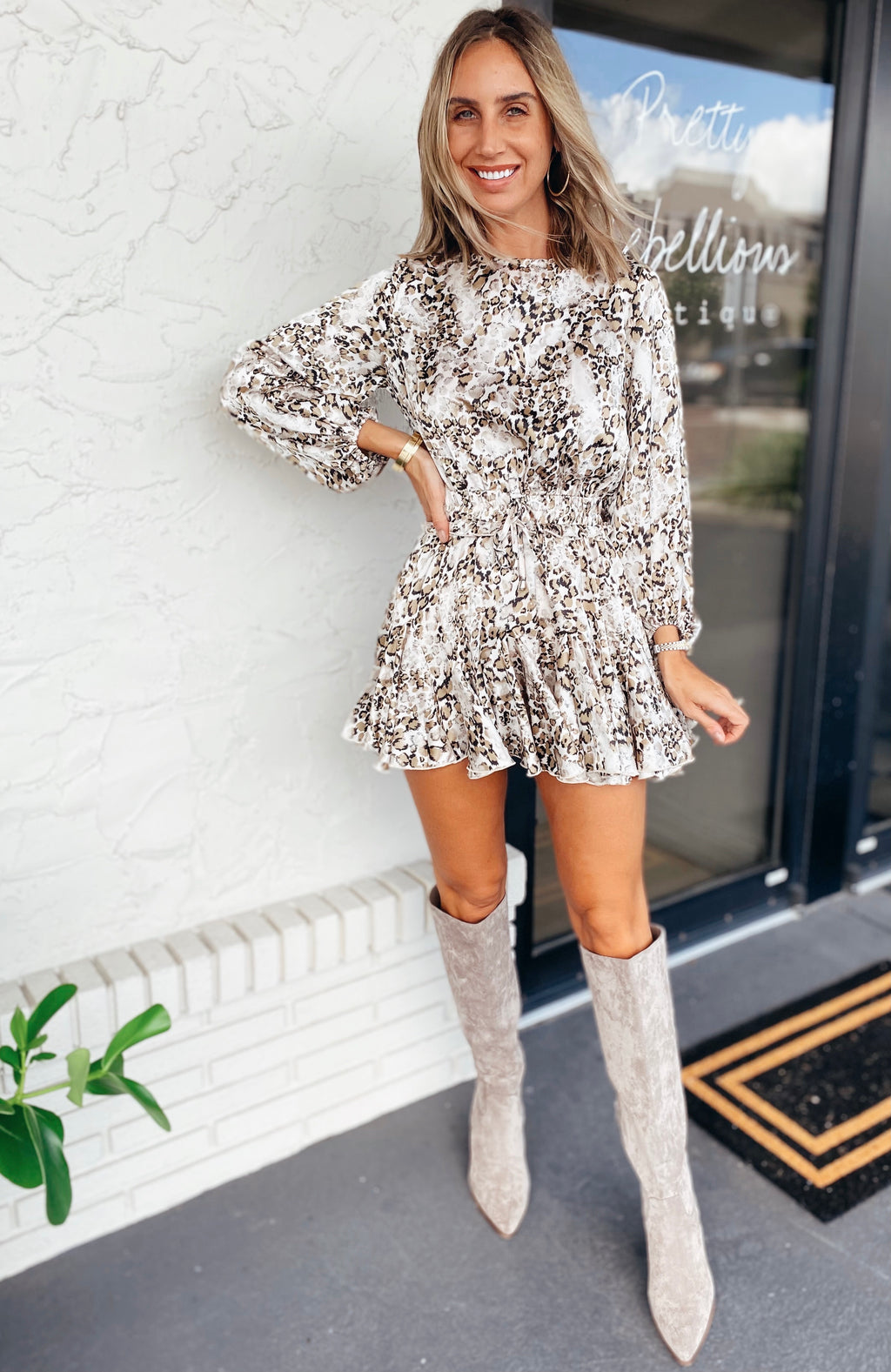 The Champagne Kitty Dress/Romper