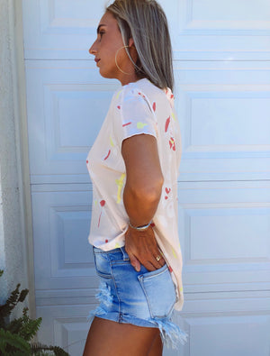 The Lite Hearted Denim Shorts