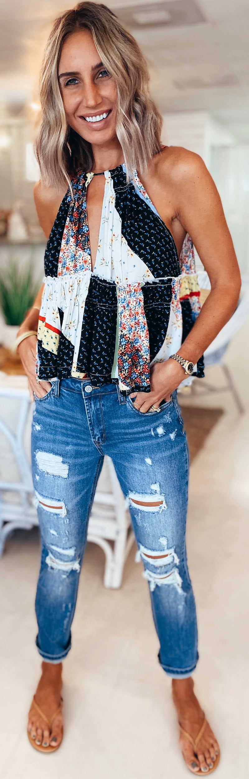 The Floral Patchwork Top