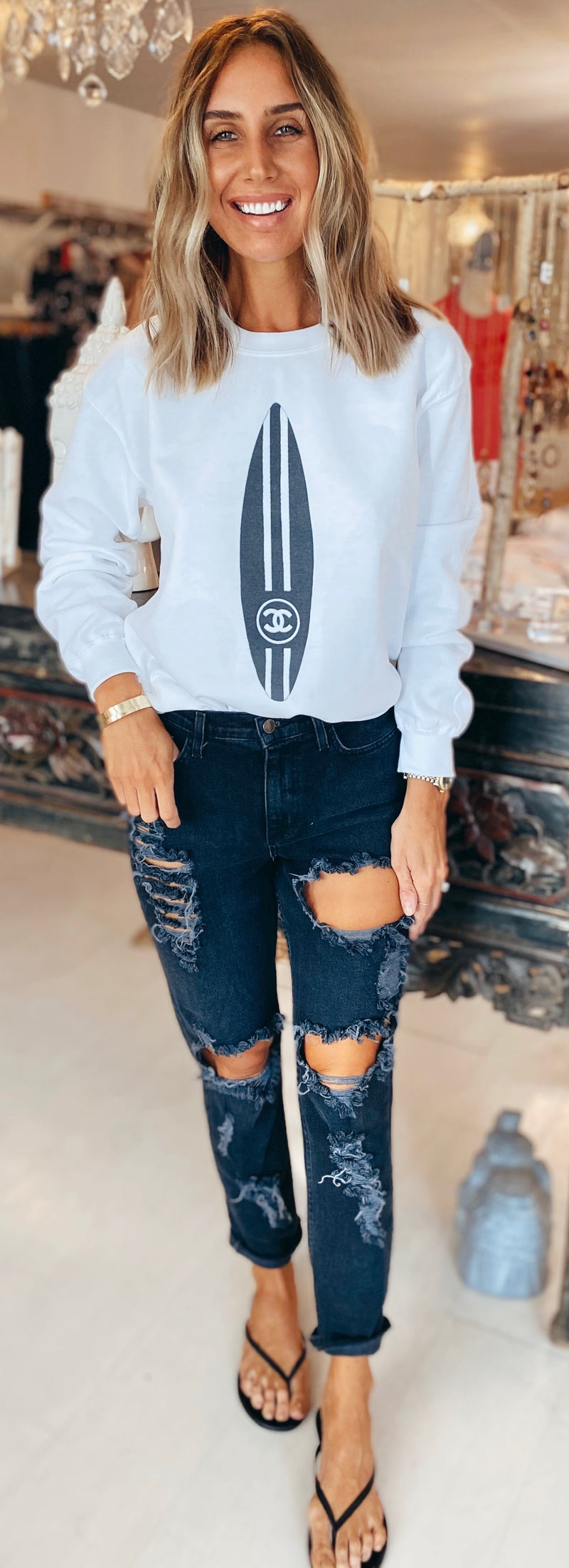 The Chanel Surfboard Sweatshirt