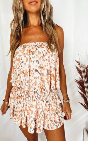 The Sunset Leopard Romper