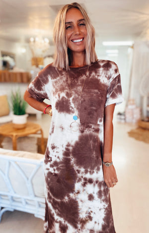 The Pasture Tie Dye Tee Dress