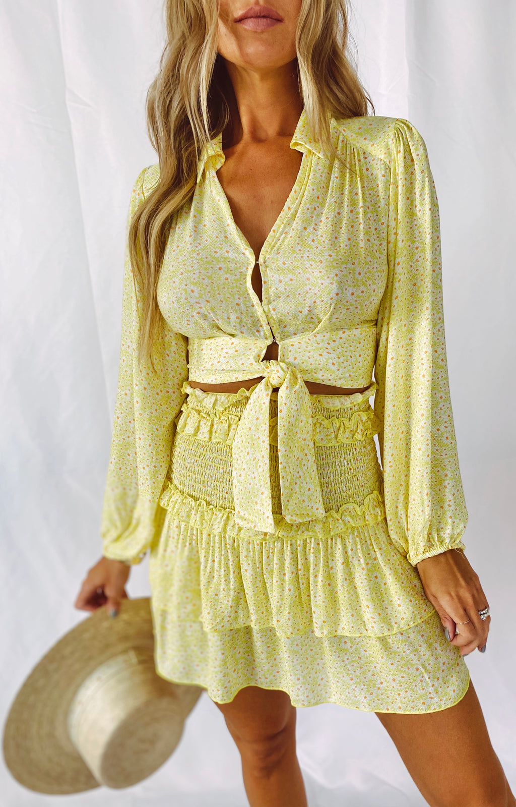 The Lemon Drop Daisy Skirt Set