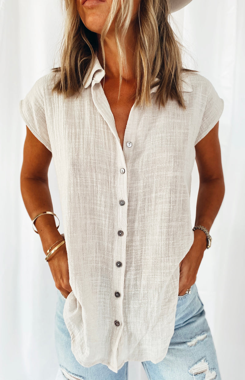 The Pebble Button Down Top